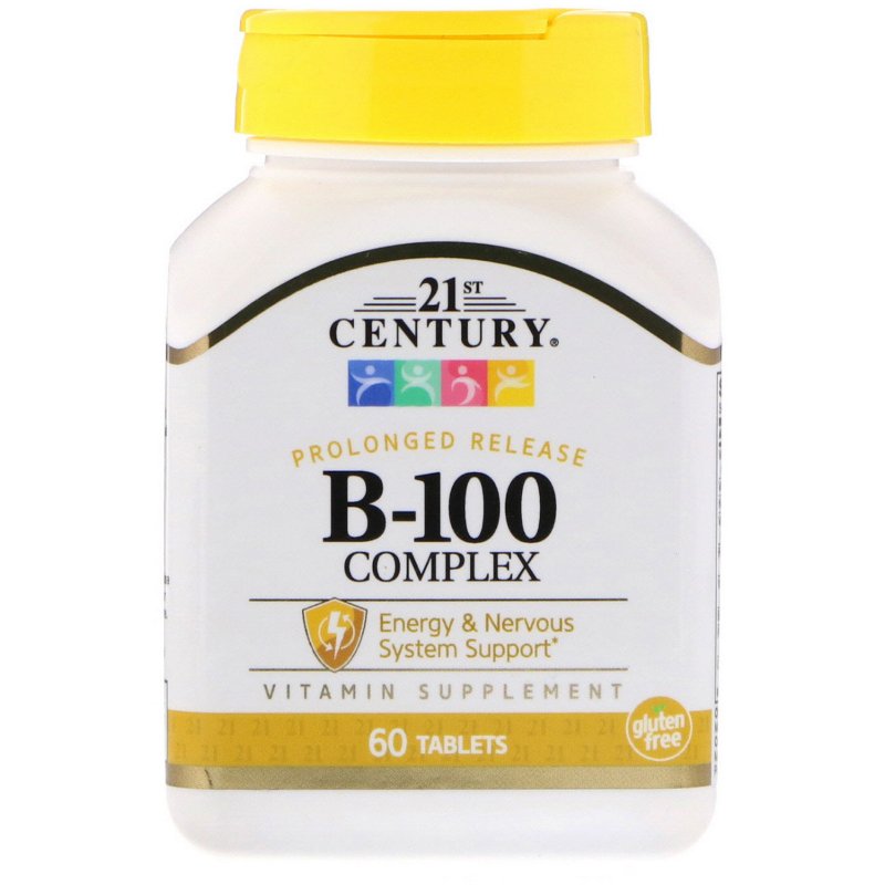 21st Century, Prolonged Release B-100 Complex 60 Tablets
